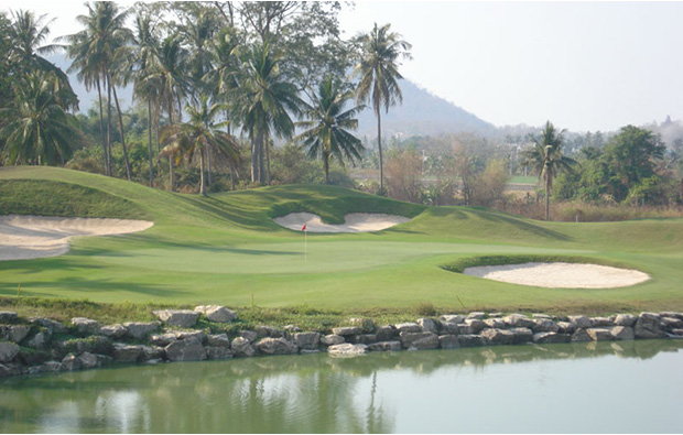 water hazard, pleasant valley golf club, pattaya, thailand