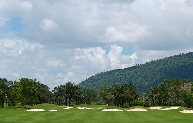 fairway bunkers, greenwood golf club, pattaya, thailand