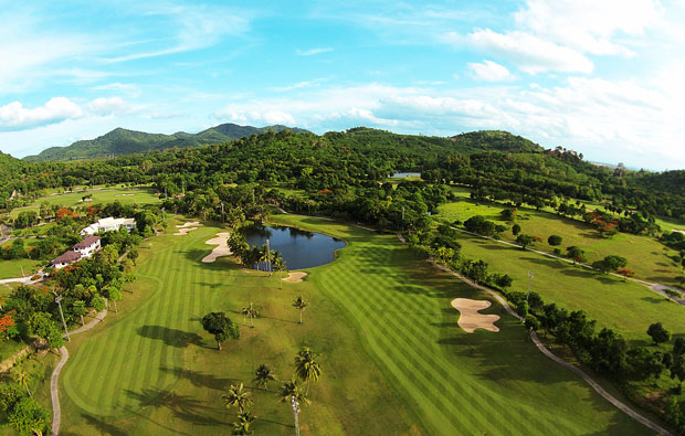 another aerial view, laem chabang international country club, pattaya, thailand